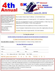 4th Annual U.C. Runs Over Heroin 5k @ Union County Courthouse | Liberty | Indiana | United States