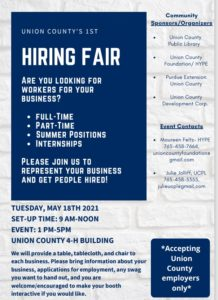 Union County Job Fair @ 4-H Building | Liberty | Indiana | United States